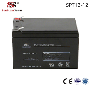 Sunstone Power 12V 12AH Rechargeable AGM Bleiakku Lead Acid Batterie