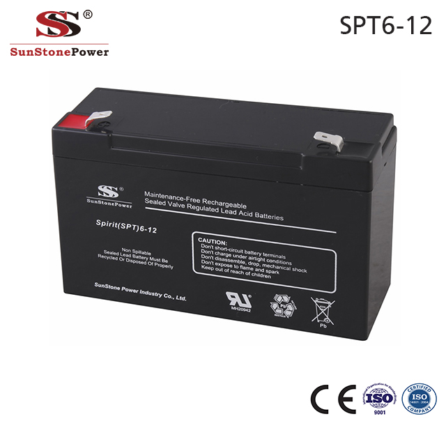 Sunstone Power Akku Batterien 6V 12AH AGM Solarzellen Batterie